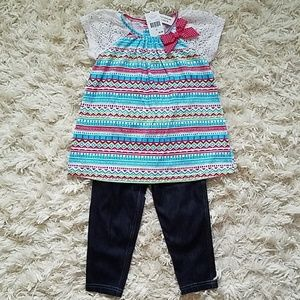 Good Lad 2 piece Aztec top and jegging set
